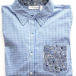 Susan Graver QVC Gingham Shirt sz 12